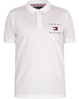 Tommy Hilfiger  Logo Polo Shirt  men's Polo shirt in White