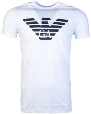 Armani  8N1T991JNQZ_0100white  men's T shirt in White