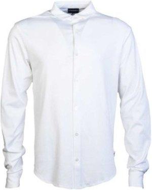 Armani  8N1CH61JPRZ_0100white  men's Long sleeved Shirt in White