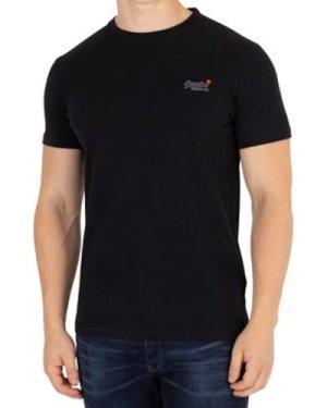 Superdry  Orange Label Vintage EMB T-Shirt  men's T shirt in Black