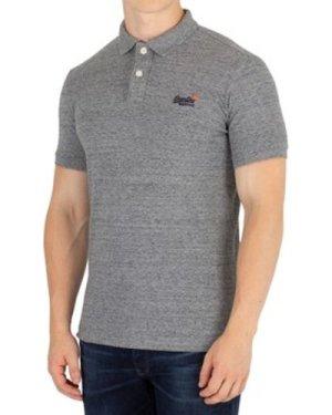Superdry  Classic Pique Polo Shirt  men's Polo shirt in Grey
