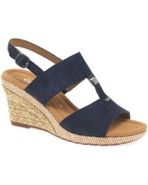 Gabor  Keira Womens Wedge Heel Sandals  women's Sandals in Blue