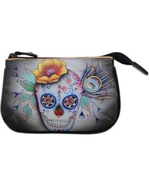 Anuschka  1107 Calaveras de Azucar -Hand Painted Leather  women's Cosmetic bag in Multicolour