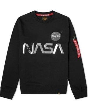 Alpha  NASA Reflective Sweatshirt  men's Sweatshirt in Black