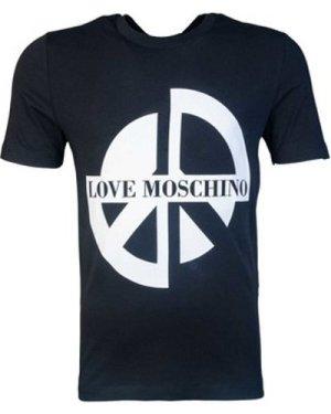 Love Moschino  M47313AE1811_c74black  men's T shirt in Black