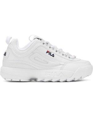 Fila  White Disruptor II Premium Unisex Trainers  women's Trainers in White