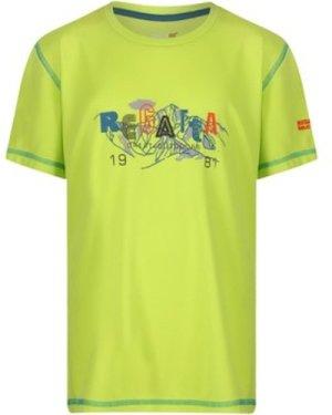 Regatta  Alvarado IV Go For It Graphic Print T-Shirt Green  boys's Children's T shirt in Green