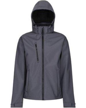 Professional  Venturer 3 Layer Printable Hooded Softshell Jacket Grey  men's Coat in Grey