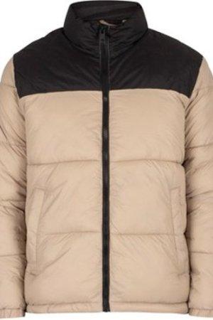 Jack   Jones  Drew Puffer Collar Jacket  men's Jacket in Beige