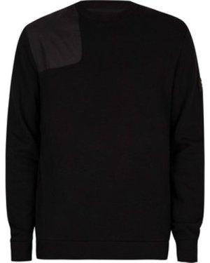 Lyle   Scott  Ripstop Applique Sweatshirt  men's Sweater in Black