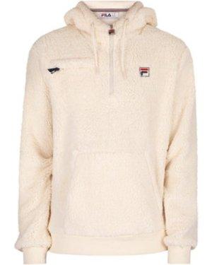 Fila  Krish Sherpa Pullover Hoodie  men's Sweater in White