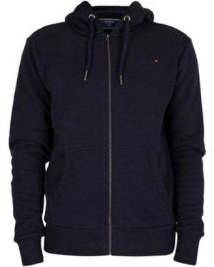 Superdry  Classic Zip Hoodie  men's Sweatshirt in Blue