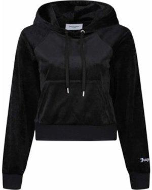 Juicy Couture  Hope Embossed Velour Hoodie  women's Sweatshirt in Black
