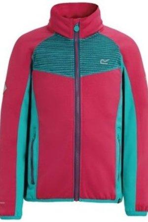 Regatta  Oberon Stretch Softshell Jacket Pink  boys's Children's sweatshirt in Pink