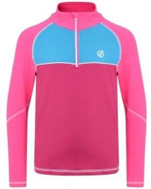 Dare 2b  Formate Core Stretch Half Zip Midlayer Pink  girls's Children's Sweatshirt in Pink