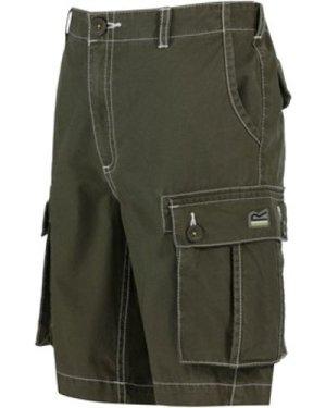 Regatta  Kids Shorefire Cool Weave Cotton Canvas Shorts Green  boys's Children's shorts in Green