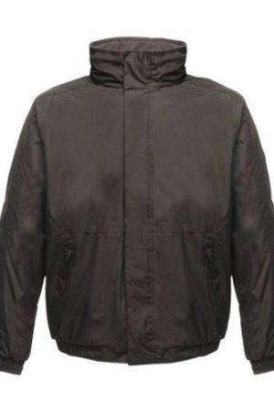 Professional  Dover Fleece Lined Waterproof Insulated Bomber Jacket Black  men's Coat in Black