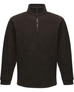 Professional  Thor Overhead Fleece Black  men's Fleece jacket in Black