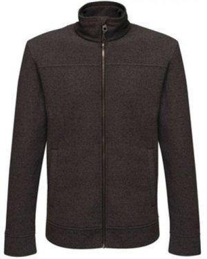 Professional  Parkline Full Zip Mini Stripe Fleece Black  men's Fleece jacket in Black