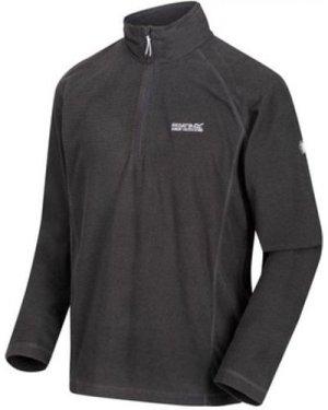 Regatta  Montes Lightweight Half Zip Mini Stripe Fleece Grey  men's Fleece jacket in Grey