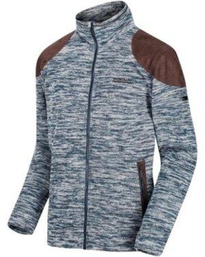 Regatta  Cranston Overlay Jaquard Full Zip Fleece Blue  men's Fleece jacket in Blue
