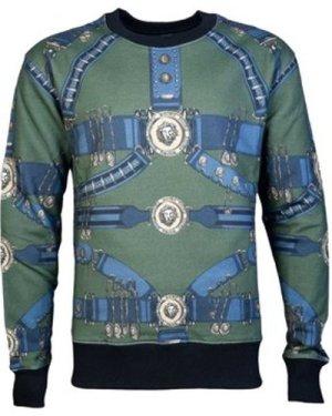 Versus by Versace  BU90627BJ10394_b7566khaki  men's Sweatshirt in Green
