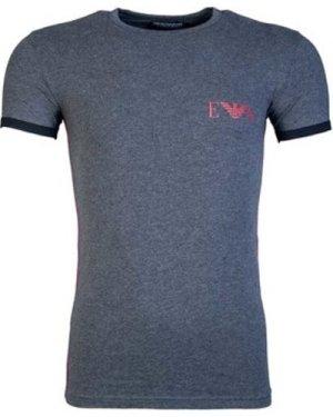 Armani  1115218A523_57720charcoal  men's T shirt in Grey