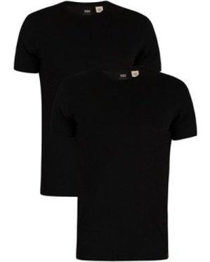 Levis  Slim 2 Pack Crew T-Shirts  men's T shirt in Black