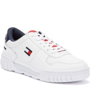 Tommy Hilfiger  Tommy Jeans Retro Lace Up Mens White Trainers  men's Shoes (Trainers) in White