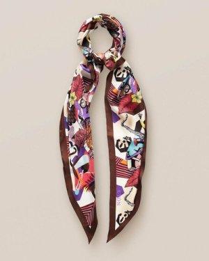 Floral music losange scarf