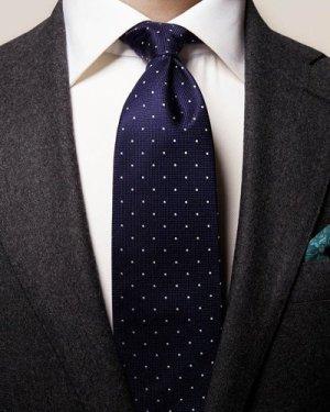 Dark Blue Polka Dot Tie