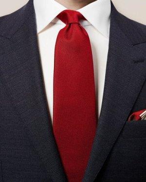 Red Basketweave Tie