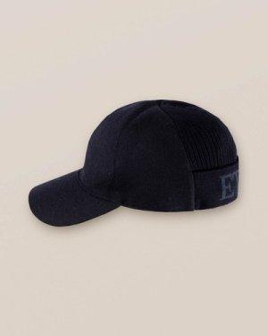 Dark Blue Flannel Logo Baseball Cap