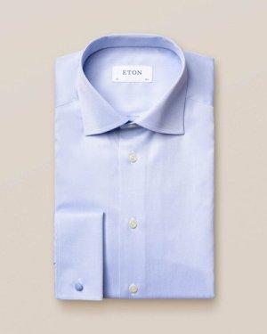 Light Blue Signature Twill Shirt – French Cuffs