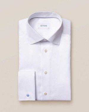 White Signature Twill Shirt – French Cuffs