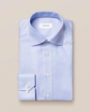 Light Blue Patterned Twill Shirt