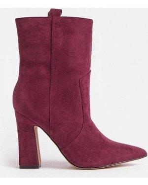 Coast Suedette Block Heel Boots -, Red