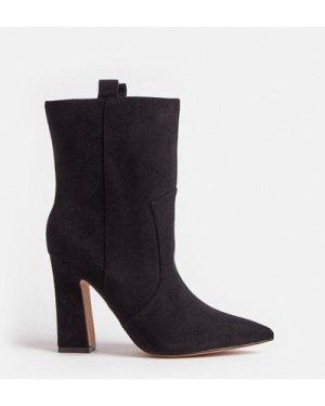 Coast Suedette Block Heel Boots -, Black