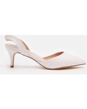 Coast Sling Back Pointed Court Shoe -, White