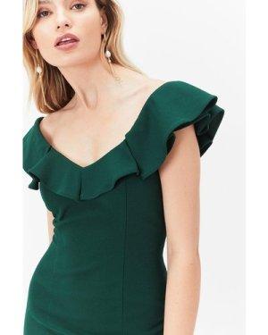 Coast Plus Size Kora Ruffle Dress -, Green