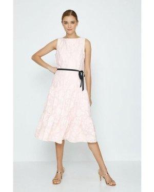 Coast Belted Dirndl Hem Dress -, Pink