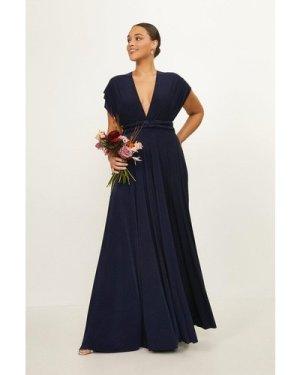 Coast Curve Multiway Jersey Maxi Dress -, Navy