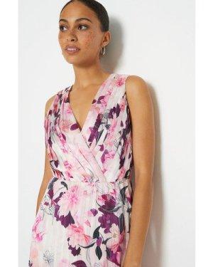 Coast Printed Pleated Maxi Dress -, Ivory