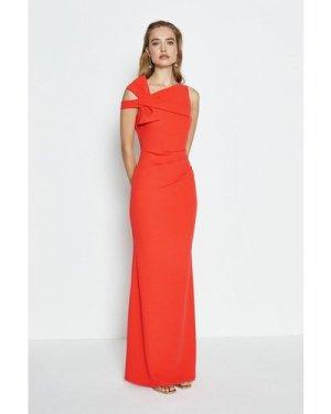 Coast Shoulder Bow Maxi Dress -, Pink
