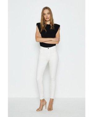 Coast 5 Pocket Stretch Jean -, Cream