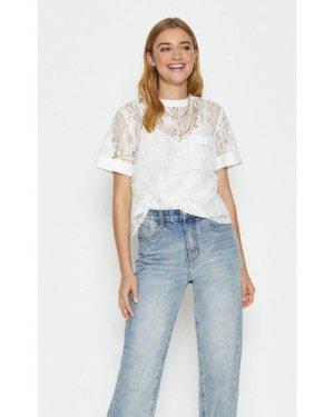 Coast Lace T-Shirt -, Ivory