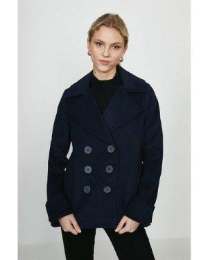 Coast Double Breasted Wool Coat -, Navy