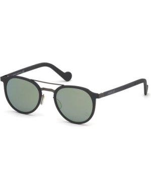 Moncler ML 0065 20Q Grey/Green Mirror