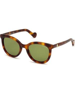 Moncler ML 0119 52N Dark Havana/Green **