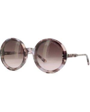 Bottega Veneta BV0166S 002 Havana-Violet/Brown Gradient ** **